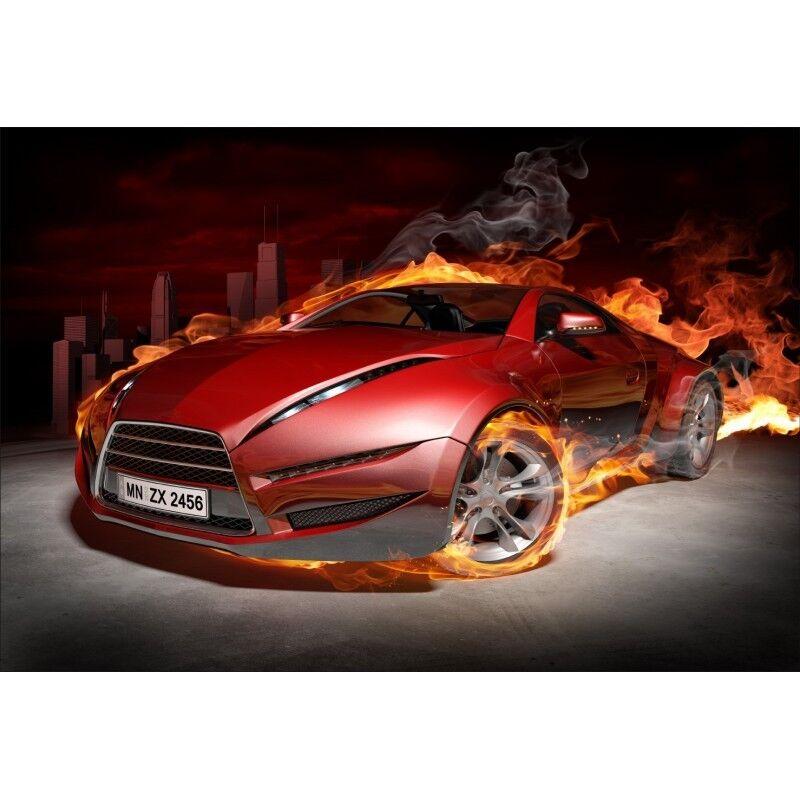 Stickers muraux voiture déco : voiture muraux flamme 1476 604e76