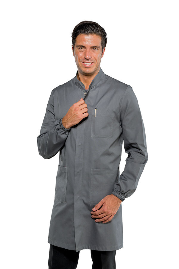 SHIRTS MAN DOVER MECHANICAL GREY LONG SLEEVE ISACCO MADE IN ITALY MECHANIC COAT
