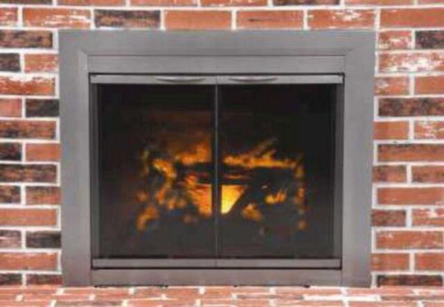 Pleasant Hearth Glass Fireplace Door Craton Gun Metal S Ebay