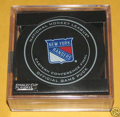 NEW YORK RANGERS 2015 Eastern Conference Finals OFFICIAL GAME PUCK NEW Team Logo