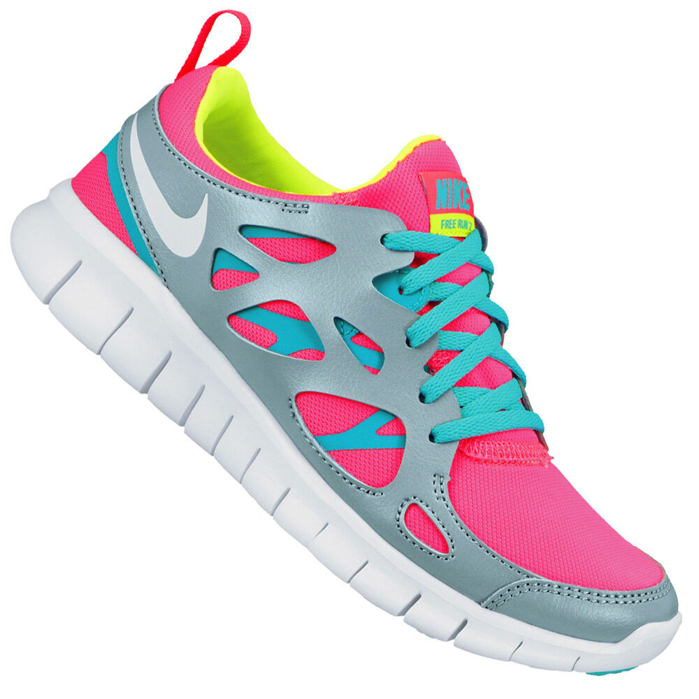 Nike Free courir 2 fonctionnement/Gym Femme/Girls/Boys Trainers UK-5/5.5 --- 477701-601