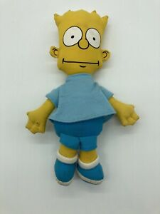 "Vintage The Simpsons Bart Simpson 10"" Plush Doll 1990"