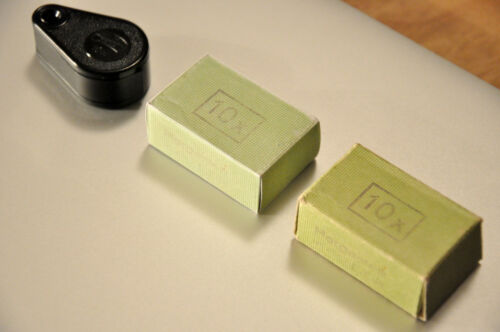 Replik Schachtel Karton für Lupe Einschlaglupe Carl Zeiss Jena 10x 10 DDR