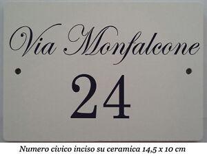 Numeri civici e lettere componibili in ceramica piastrelle numero