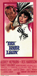 1964 Audrey Hepburn Rex Harrison movie poster print 7 My Fair Lady