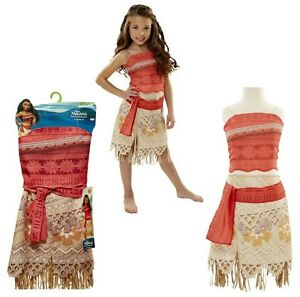 887eed800 Disney Moana Girls store Outfit Costume 2 Piece Skirt Layer Dress ...
