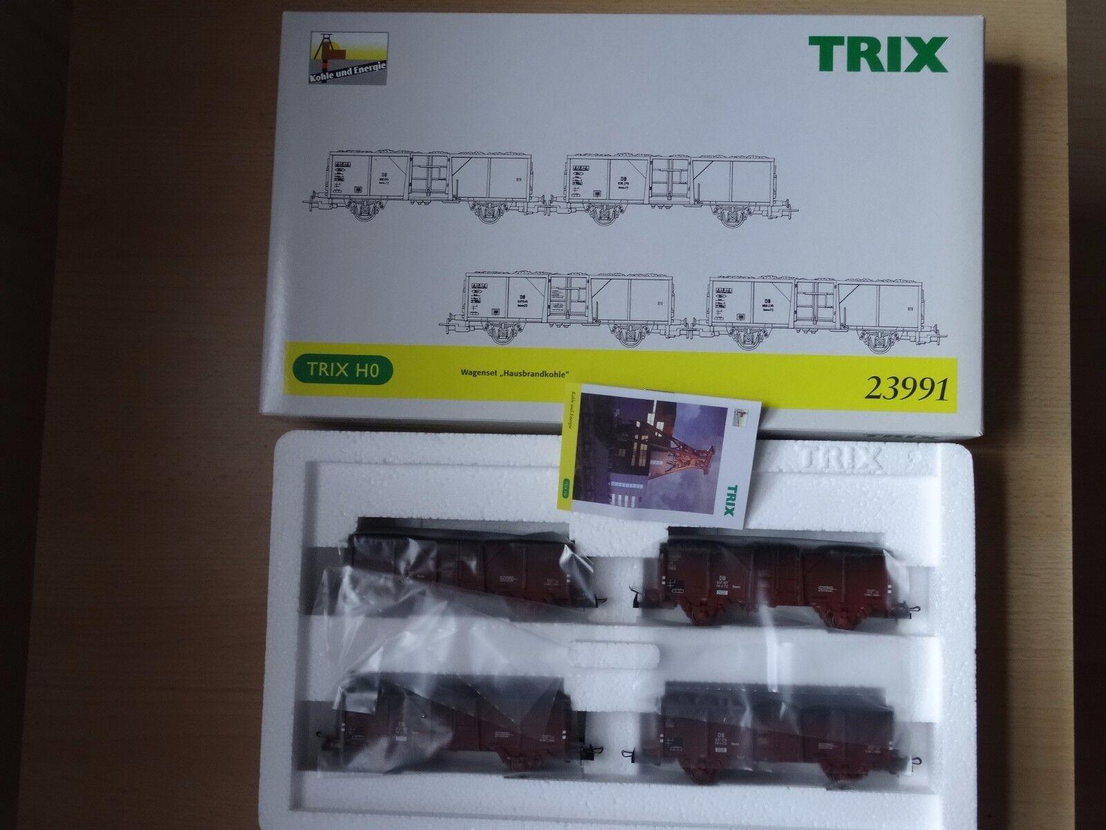 Trix HO 23991 4-teiliges Wagenset  Hausbrandkohle    Neuware aus Ladenauflösung