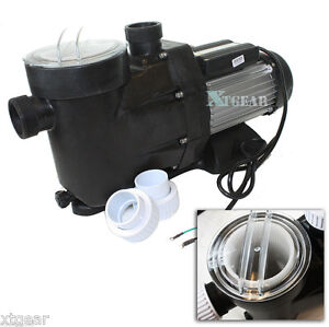 2 5hp Swimming Pool Single Speed 220v1850w 8880gph Spa Filter Water Pump Ebay