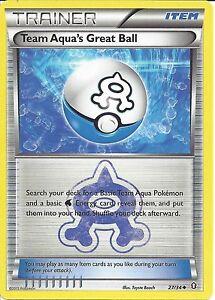 POKEMON-TRAINER-CARD-XY-DOUBLE-CRISIS-TEAM-AQUA-039-S-GREAT-BALL-27-34
