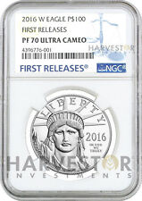 2016 PLATINUM AMERICAN EAGLE - 1 OZ. PROOF COIN - NGC PF70 FIRST RELEASES W/OGP