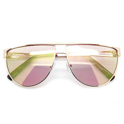 8c34c6c72f8 Designer Inspired Aviator Women Sunglasses Metal Frame Smoked and Mirrored  Lens