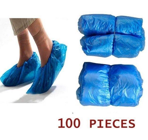 FD336 Disposable Plastic Shoe Covers Carpet Cleaning Overshoe ~50 Pairs 100 PCs~