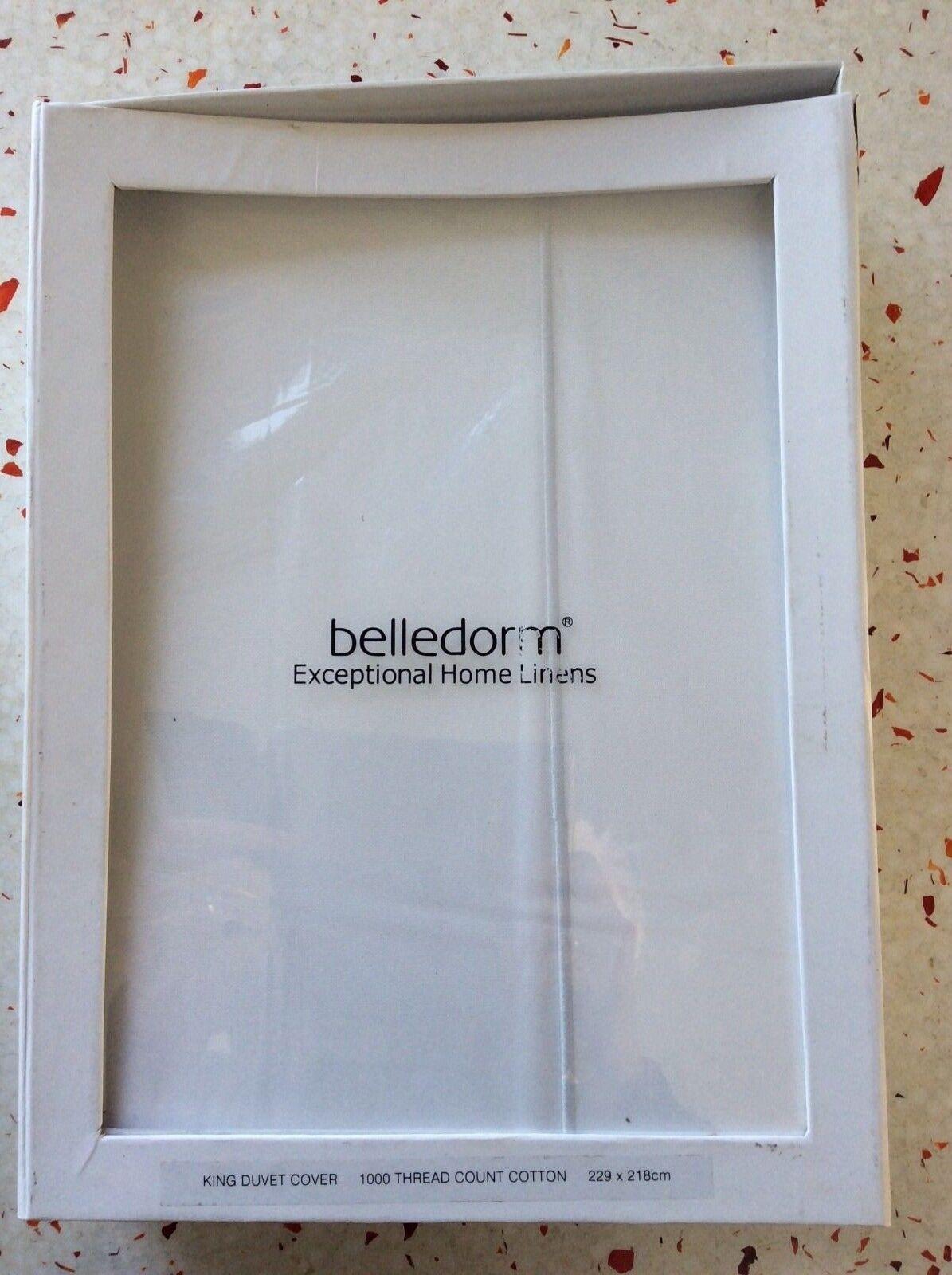 Belledorm 1000 Thread Count  Weiß  Duvet Cover King Größe Egyptian Cotton BNIP