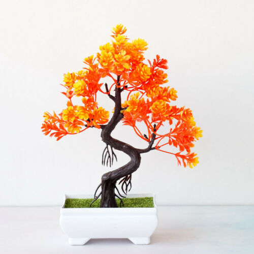 Fake Artificial Flower Plant Bonsai Potted Simulation Tree Home//Office Decor