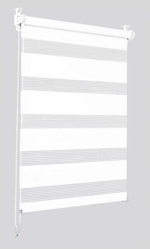 Doppelrollo Sonello weiß 90x130cm Klemmfix ohne Bohren Seitenzug Klemmrollo Duo