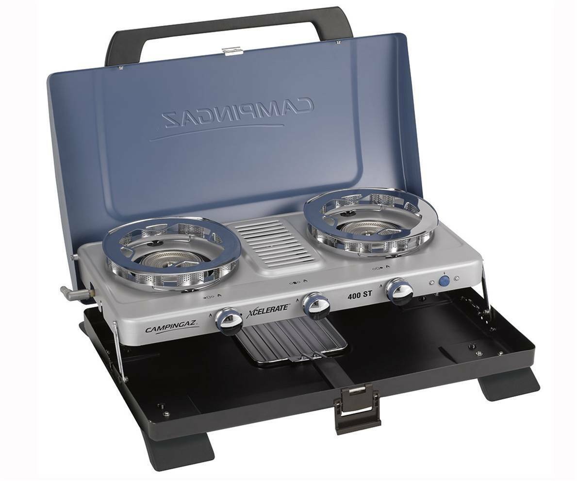 Campingaz portable 400ST  Xcelerate gas double burner stove & grill 2000032228