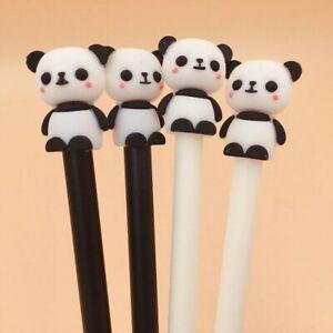 2-Pcs-Panda-Penna-Gel-Inchiostro-Nero-Cancelleria-Scuola-amp-Ufficio-Scrittura