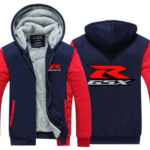 Warm Thicken Suzuki Hoodie Jacket Cosplay Sweater fleece coat Zipper Team Race
