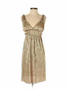 NWT-Fire-Los-Angeles-Women-Gold-Cocktail-Dress-S