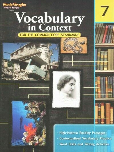 Grade 7 Vocabulary in Context Workbook Answer Key Homeschool 7th Common Core