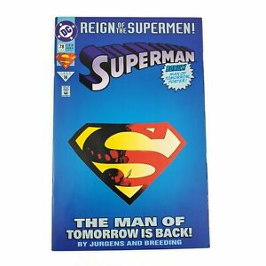 DC-Superman-78-1993-Reign-Of-The-Supermen-Collectors-Edition-Diecut-Cover-VF-NM