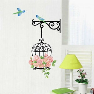 Fashion-Flower-Bird-Wall-Decal-Sticker-Home-Decor-Vinyl-Removeable-Mural-Sticker