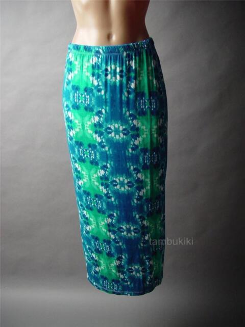 Sale Tie-Dye Beach Boho Tropical Island Hawaii Party Long Maxi 41 mv Skirt S M L