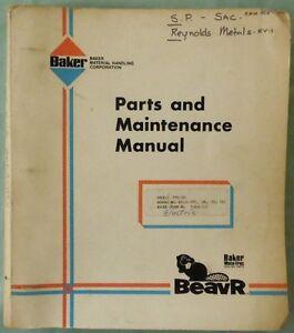 baker electric forklift ftd 060 maintenance manual parts book ebay rh ebay com Komatsu Forklift Wiring Diagrams Forklift Parts Diagram