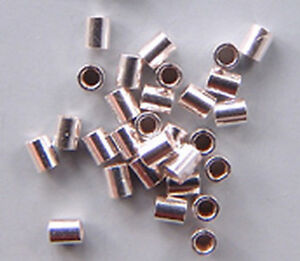 500 Assorted Finish Bead Crimp Tubes 2mm x 2mm Gold Silver Black Copper Beading