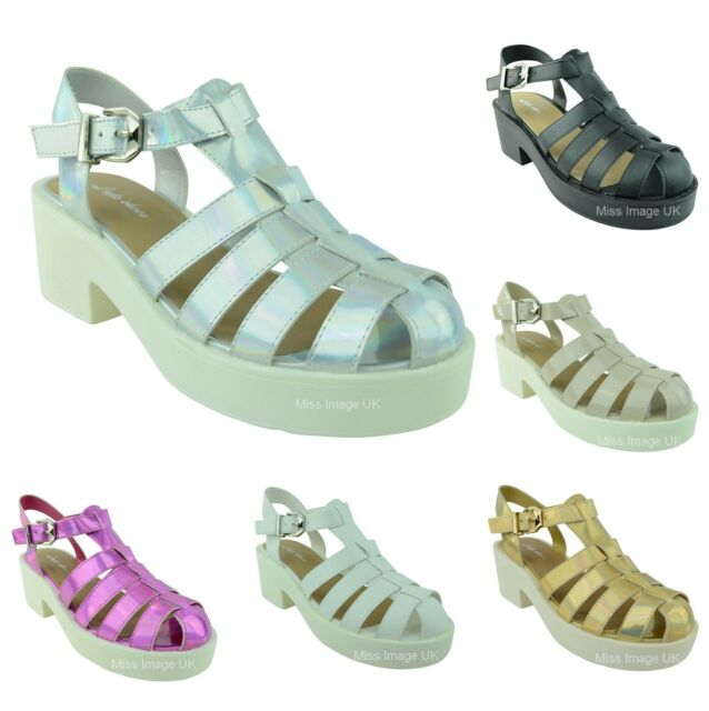 WOMENS LADIES NEW STRAPPY CUT OUT GLADIATOR CHUNKY BLOCK HEEL SANDALS SHOES SIZE