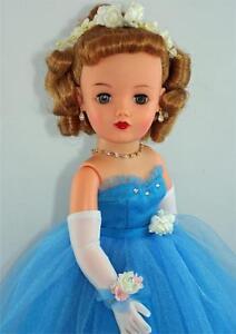 LONG-White-Over-the-Elbow-GLOVES-for-18-20-034-Miss-Revlon-Vintage-Fashion-Dolls