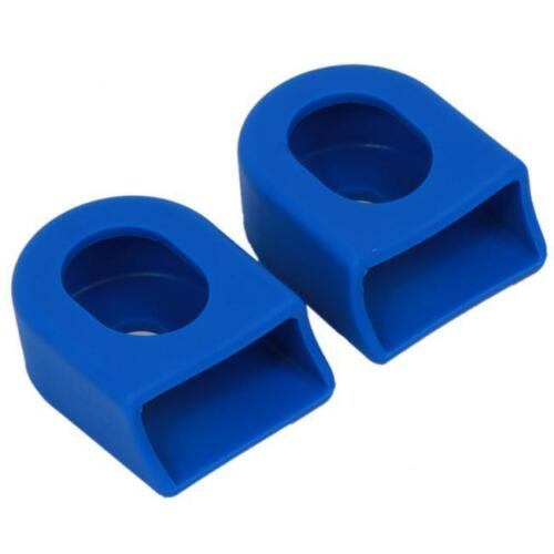 2pcs Silicone Cycling MTB Bike Bicycle Crank Arm Boots Protector Cover JD
