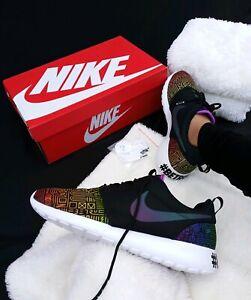 60bbe40dc36a0 Size 11.5 MEN S Nike Roshe One BT QS Be True LGBTQ Black rainbow ...