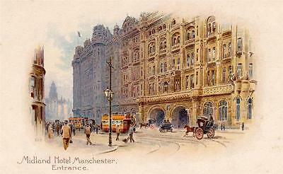 Midland Hotel Manchester unused old pc Midland Railway Hotels W Towle Manager