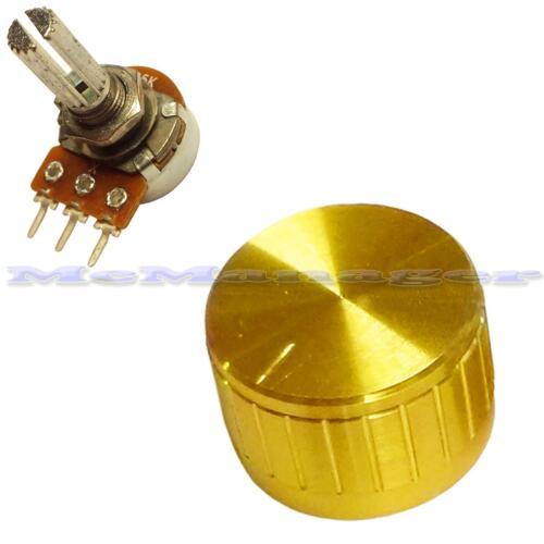 Manopola e lineare lin 1 M LOG Logaritmico MONO singolo potenziometro pot Scanalato