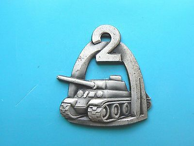 #722 POLAND WWII EXILE 2nd WARSAW  ARMOURED TANK DIVISION BADGE,sterling,rare