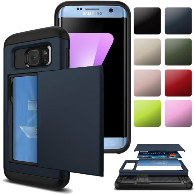 super popular 377cd e8f9d Credit Card Holder Shockproof Wallet Case Cover For Samsung Galaxy S7 /  Edge S8