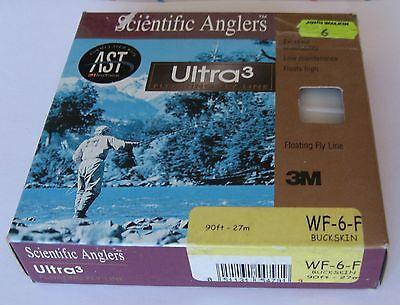 SCIENTIFIC ANGLERS Ultra 3 WF-7-F  Buckskin Fly Line