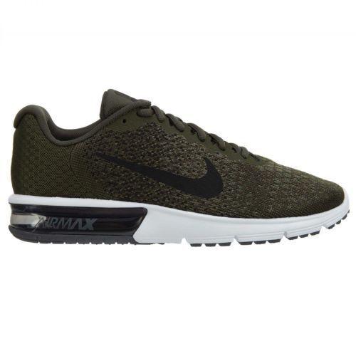 Nike Air Max Sequent 2 Men's Running ( Size 13 ) Cargo Khaki Black 852461 300