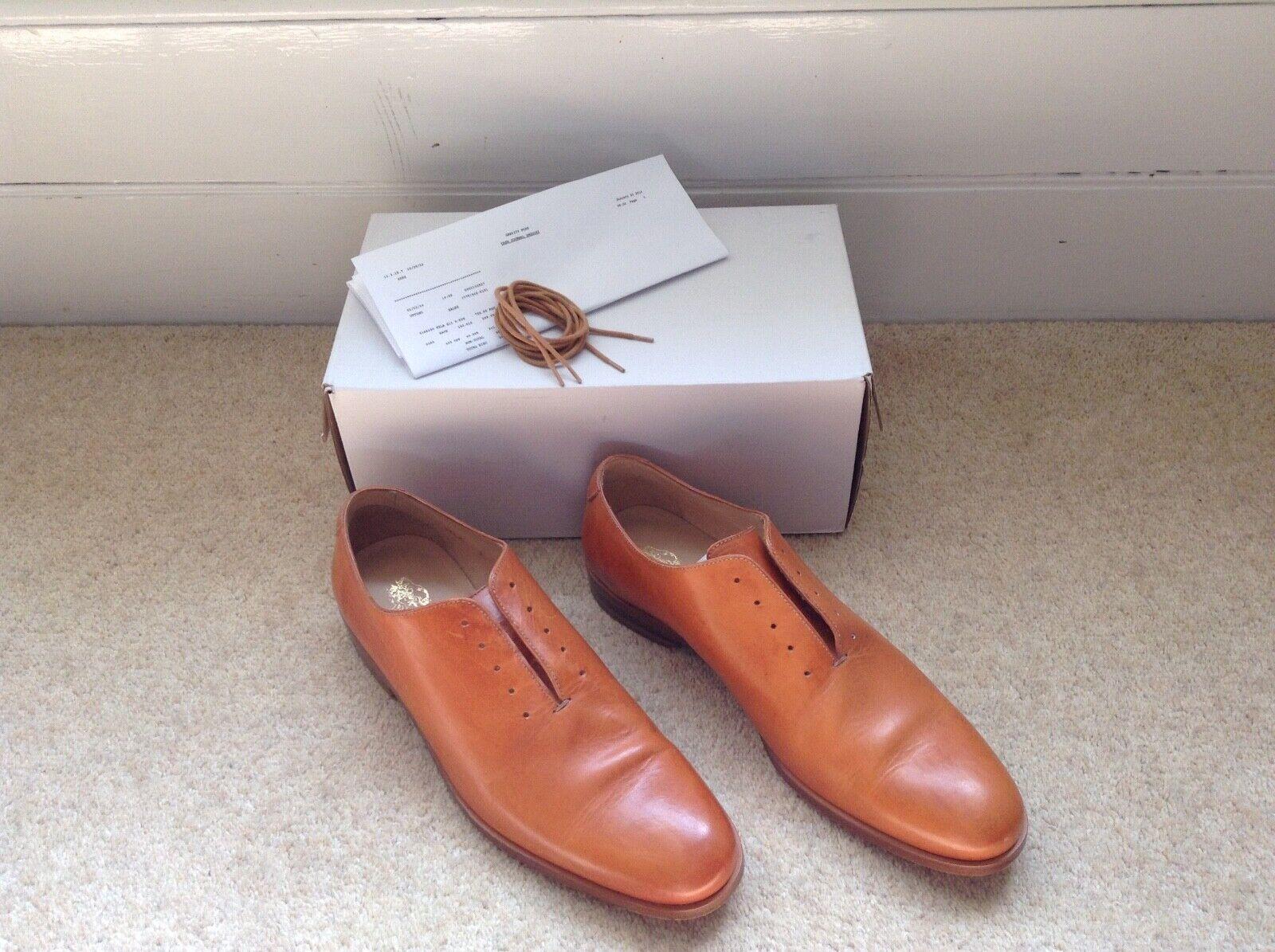 Mr Hare Fela shoes - Tan Leather UK 7 EU 41, Made in  NIB receipt.