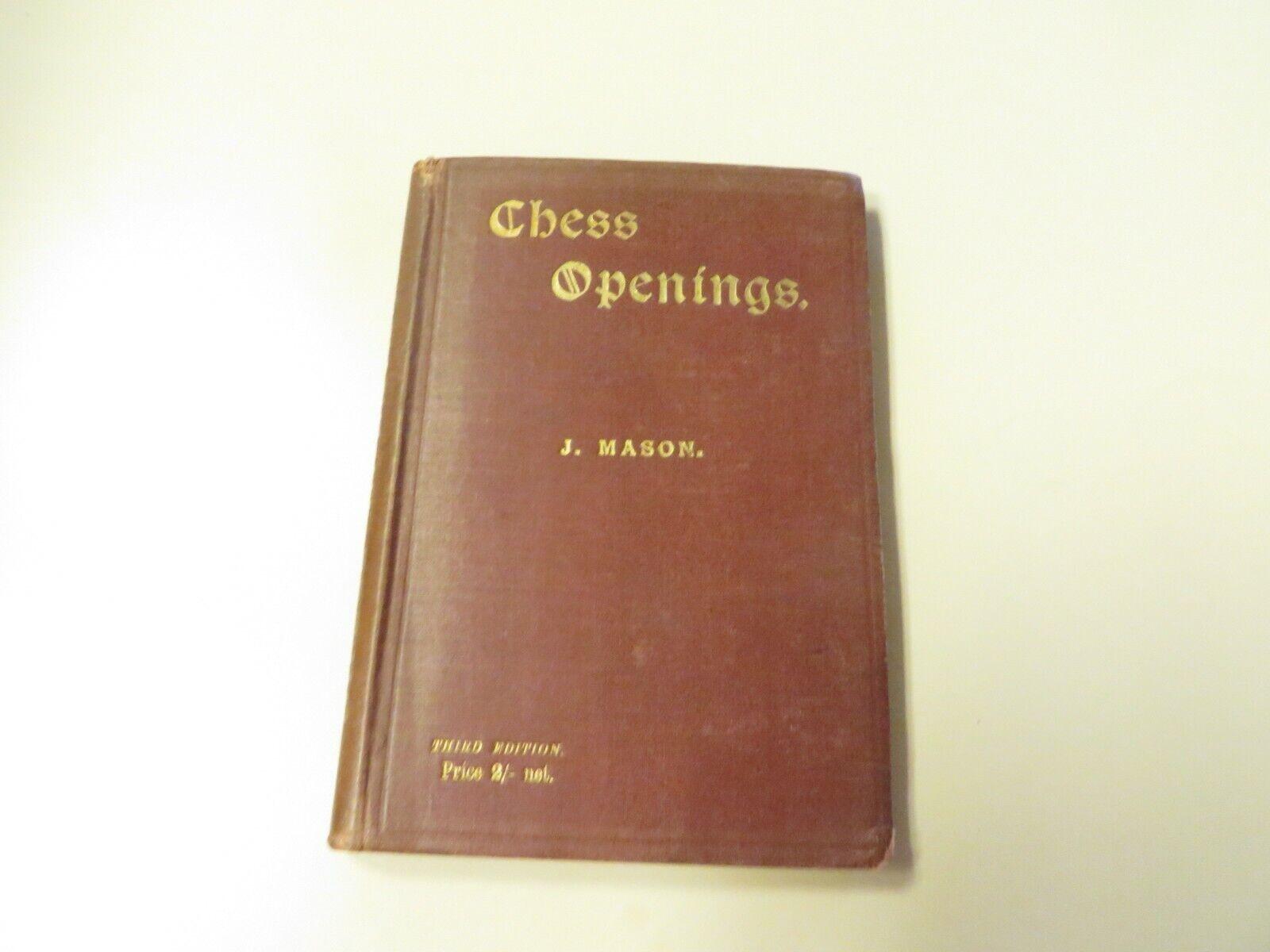 Vintage Allan Troy Chess book-Chess  Openings, par James Mason  site officiel