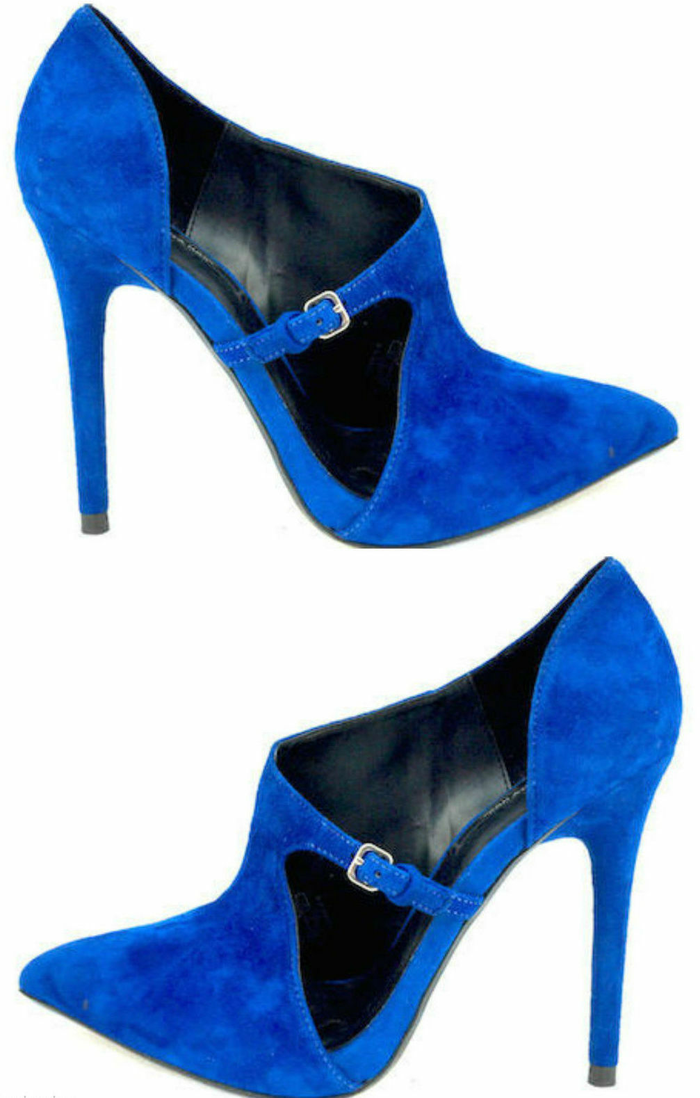 NWT ZARA blueE blueE blueE HIGH HEEL SUEDE LEATHER POINTED TOE BOOTIE PUMPS 6235 301 US 6 442155