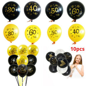 10pcs-12-034-Number-Ages-Latex-Balloon-30-40-50-60-30th-Happy-Birthday-Party-Decor