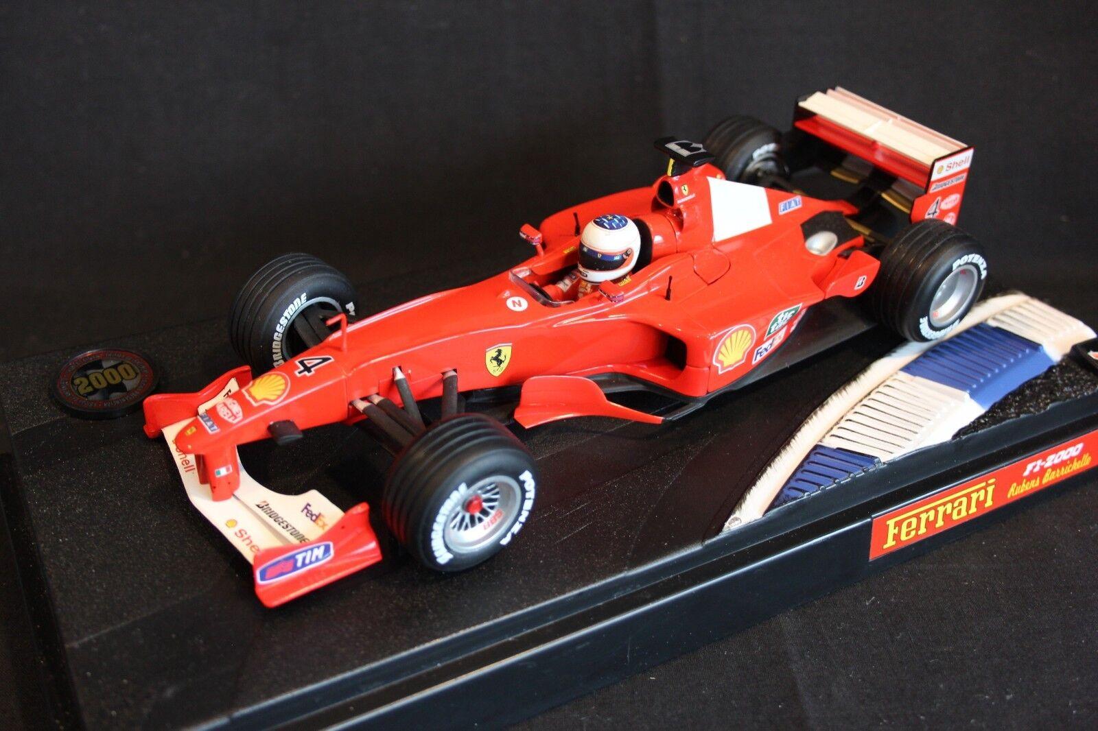 Hot Wheels Ferrari F1-2000 Launch Version 1 18  4 Rubens Barrichello (BRA)