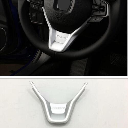 Silver Matte Chrome Steering Wheel Trim for Honda Accord 2018