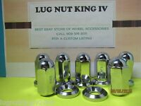 8 Lug Nuts 5/8-18 W/ Flat Washer For Alcoa Wheels Dually Trucks Gmc,chevy Ford