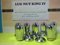 8 Lug Nuts 9/16-18 W/ Flat Washer For Alcoa Wheels Dually Trucks Gmc,chevy Ford