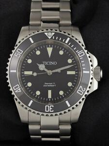 Ticino-Mar-Viper-ll-Submariner-Diver-Reloj-Miyota-8215