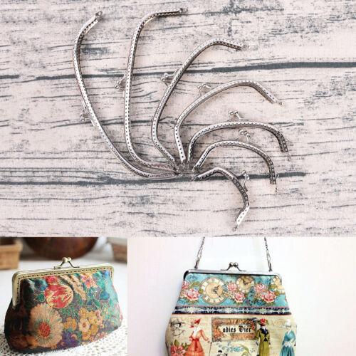 Retro Alloy Metal Flower Purse Bag DIY Craft Frame Kiss Clasp Lock Bron ZY