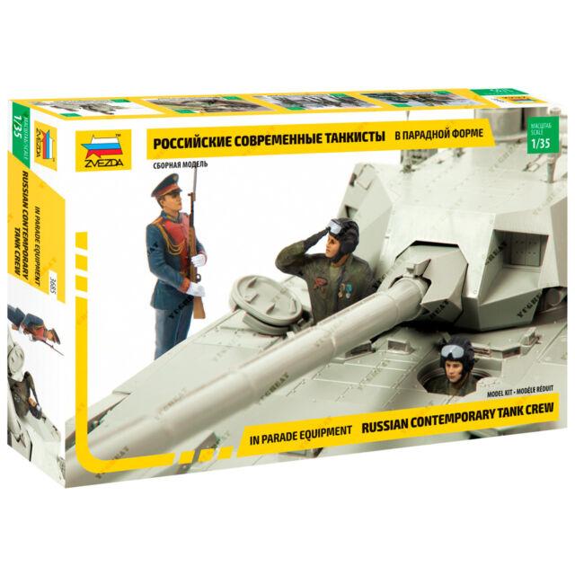 ZVEZDA 3684 1//35 Russian Contemporary Tank Crew in protective equipment